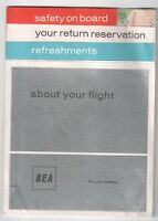 BEA BRITISH EUROPEAN AIRWAYS SAFETY CARD VISCOUNT ERA