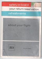 BEA BRITISH EUROPEAN AIRWAYS SAFETY CARD VISCOUNT ERA
