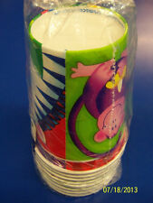 Jungle Party Wild Exotic Safari Animals Kids Birthday Party 9 oz. Paper Cups