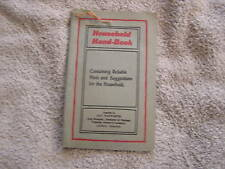 Household Hand-Book Rumford Baking Powder 1930's