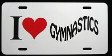 I Love Playing Gymnastics License Plate - New, Novelty, Fun