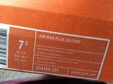 NIKE Air Max Plus Scarpe da ginnastica in pelle nuova mai indossata nella casella OLD SCHOOL TN1