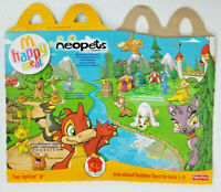 2004 McDonalds Fisher Price Neopets Happy Meal Box New Old Stock