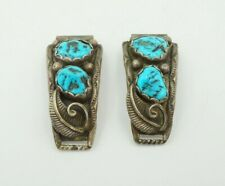 W Denet-Dale Native American Navajo Sterling Silver Turquoise Watch Tips