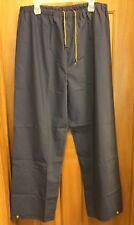 Men's Black Polyvinyl Rain Snow Waterproof Pants Size Medium Long