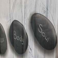 Duschvorhang Steine schwarz weiß Textil Polyester 180cm x 200cm Badevorhang