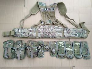 MTP / Multicam Webbing PLCE Belt Kit Set 10 Osprey Pouches Molle Belt Yoke