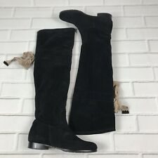 O'JOUR Italy Women's Size 37 7 Black Leather Suede Over The Knee Tall Boots