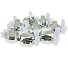 8 X Stoves New World & Belling Cooker Oven Hob Silver Control Knobs & Adaptors