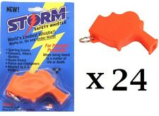 Storm Whistle Orange 24 pack  Loudest Whistle in World totally waterproof