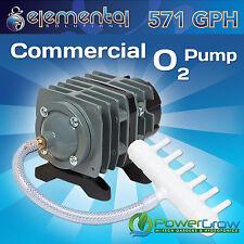 Commercial Air Pump, 571 gph Elemental O2 - Aquarium Hydroponics Aquaponics Pond