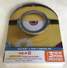 Minions Exclusive Metal Packaging Collector's Limited Deluxe Edition Blu-Ray/DVD