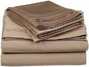 Taupe Solid Split Corner Bedskirt Choose Drop Length US Size 800 Count