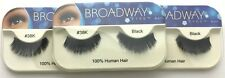NEW LOT OF 3 BROADWAY EYES BLA12 100% HUMAN HAIR BLACK STRIP #38K EYELASHES