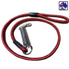 Red Dog Pet Nylon Weaved Leash Walk Rope Lead 10mmx120cm PDOCH0501
