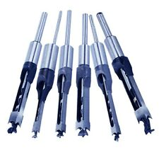 """6Pcs Woodworking Square Hole Mortise Chisel Drill Bits with 3/4"""" Shank Wood Cut"""