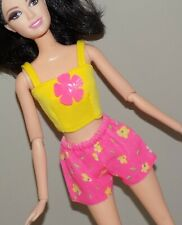 Barbie Outfit Yellow Top Floral Shorts Fits Fashionista Model My Scene Liv Doll