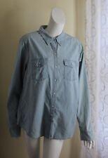 NWT Lands End 16 XL Lightwash Jean Chambray Denim Shirt Blouse Top Lux