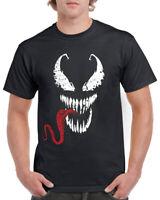 Spiderman T-Shirt Tee Top Venom Face Tongue Marvel DC Deadpool Gym Spider Gift