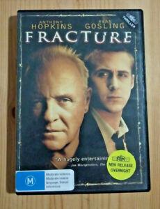Fracture DVD PAL REGION 4  Anthony Hopkins Ryan Gosling