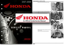Honda CRF450R 2007 to 2008 Service Workshop Repair Shop Manual CRF 450 R CRF450