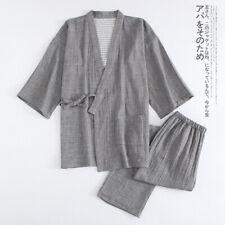 2020 Japanese kimono women men's yukata cardigan pajamas set tops robe pants
