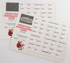 10  FUNDRAISING SCRATCH CARDS CHRISTMAS THEME 40 SPACES CHRISTMAS PARTY GAME
