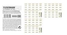 3 x FLEISCHMANN 6555 Wagennummern für ICE-Mittelwagen Spur H0 - NEU