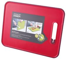 Joseph Joseph Slice and Sharpen Chopping board with Knife Sharpener Large Red