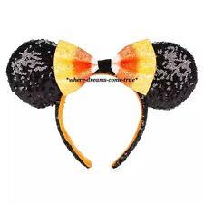 NWT Disney Parks 2019 Halloween Candy Corn Bow Minnie Mouse Ears Headband (NEW)
