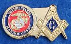 United States Marine Corps Masonic Lapel Pin - USMC / Mason / Military