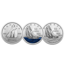 🇨🇦 New Canada Special Designs 10 cents Dime Bluenose Schooner coin set, 2021