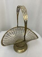 Antique Apollo Sheffield Nickel Silver Reticulated Basket with Handle