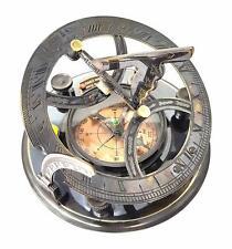 Brass Sundial Compass Nautical Maritime Antique Vintage Style London Decor Gift