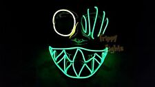 PopEye Glow El Wire Rave Party Festival EDCEDM Halloween Costume Handmade Mask!