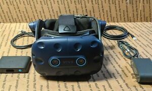 HTC Vive Pro Virtual Reality HMD VR Headset, Link Box, (SMALL CRACK ON FRONT)