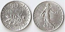 50 CTS ARGENT 1912 SEMEUSE  ÉTAT VOIR PHOTO ET DESCRIPTIF