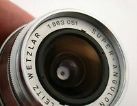 LEICA Super-Angulon M39 LTM 4/21 21 21mm F4 the FIRST ONE das ERSTE 1583 051 TOP