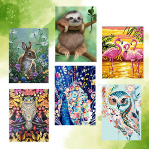 Frameless Paint by Numbers Painting Kit Canvas Wall Art Home Acrylic Cute Animal