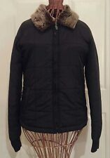 Vans Women's Black Quilted Light Puffer Jacket, size S/Small