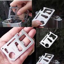 Multifunktion Mini Notüberleben Messer Kreditkarte Knife Camping Werkzeug 11 in1