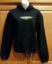 NEW Harley-Davidson Womens 2003 Black Over the Head Sweatshirt Hoodie Jacket Med
