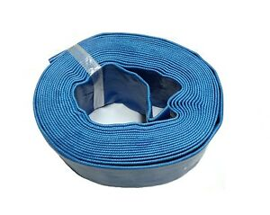 """50' Feet x 2"""" Inch Swimming Pool Deluxe Filter Backwash Discharge Hose w/ Clamp"""