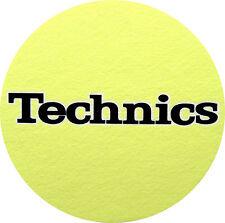 Slipmats Technics Giallo - NERO LOGO (1 pezzo / 1 pezzo) NUOVO + ORIGINALE