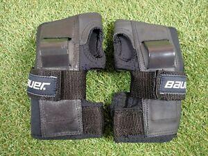 Bauer Wrist Pads Protection Inline Roller Skate Skateboard Black Size L