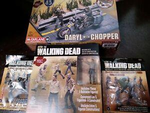 McFarlane Walking Dead Building Sets Lot⭐5 Figure Pack⭐Chopper⭐& 2 Bonus Figures