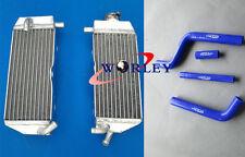 Aluminum Radiator and hose for YAMAHA YZ 125 YZ125 2002 2003 2004 02 03 04 BLUE