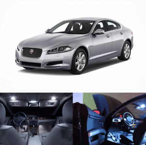 LED White Lights Interior Package Kit For Jaguar XF 2009-2015 12 pcs