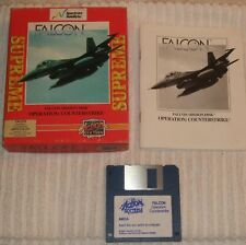 AMIGA (VINTAGE) COMPUTING GAME ** FALCON MISSION DISK  - COUNTER-STRIKE ** BOXED