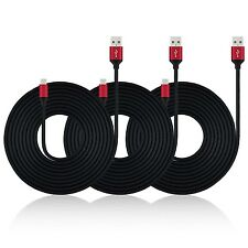 10FT ARAMID REINFORCED 3PK Android Samsung Charger Charging Sync Cable MICRO USB